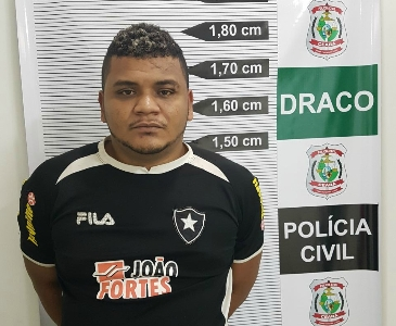 "Suspeito de chefiar o tráfico de drogas na comunidade do ""Gereba"""