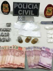 Suspeita de comandar o tráfico de drogas em bairro de Horizonte é presa pela Polícia Civil
