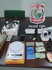 DCTD apreende drogas e objetos de vigilância com suspeita de tráfico de drogas