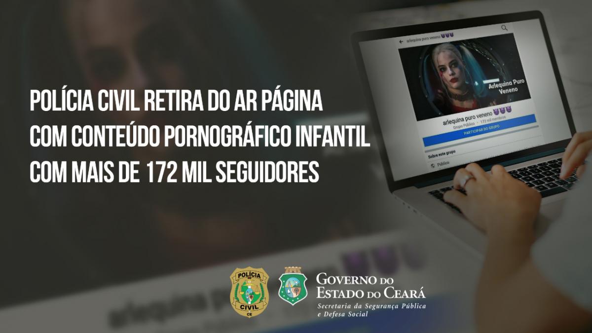 Polícia Civil retira do ar página com conteúdo pornográfico infantil com mais de 172 mil seguidores