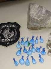 Suspeito de tráfico de drogas é preso pela Polícia Civil na Capital