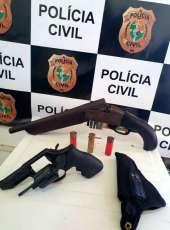 Denúncia anônima em Mombaça resulta nas apreensões de duas armas pela Polícia Civil