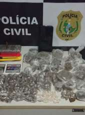 Polícia Civil desativa ponto de venda de droga em Sobral durante operação de combate a homicídios